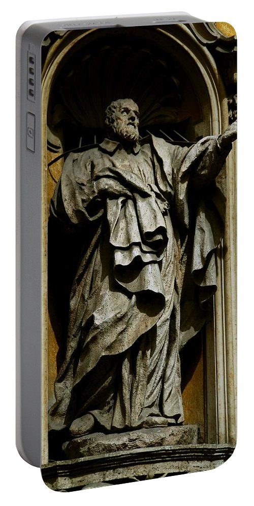 Philosopher Portable Battery Charger featuring the photograph The Chicken Came First by Eric Tressler