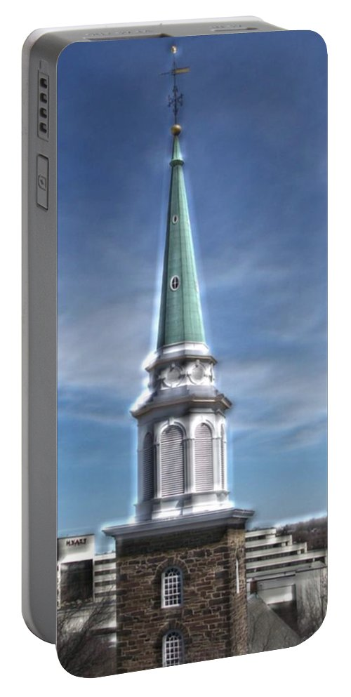 Steeple Portable Battery Charger featuring the photograph The Chosen by Pharris Art