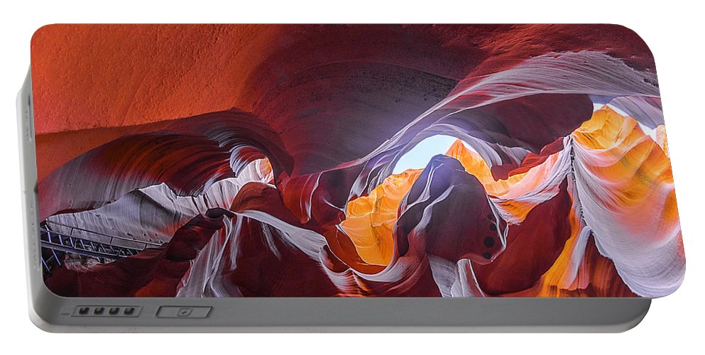 Antelope Canyon Portable Battery Charger featuring the photograph The Climb by Jason Chu