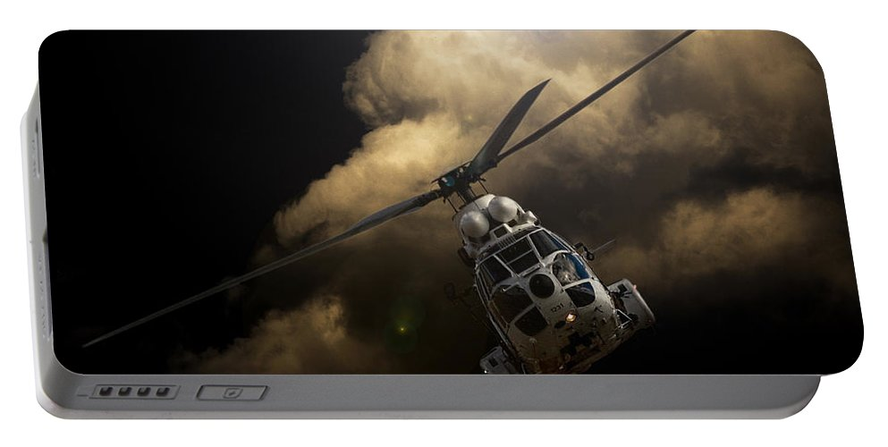 Atlas Oryx Portable Battery Charger featuring the photograph The Cloud by Paul Job