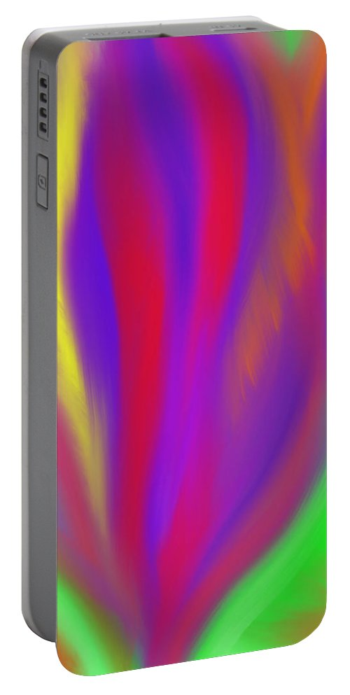 Vibrant Portable Battery Charger featuring the painting The Colors' Creation by Daina White