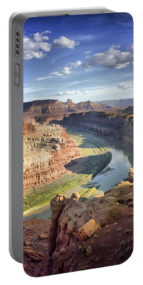 National Park Portable Battery Charger featuring the photograph The Colors Of Canyonlands by Ellen Heaverlo