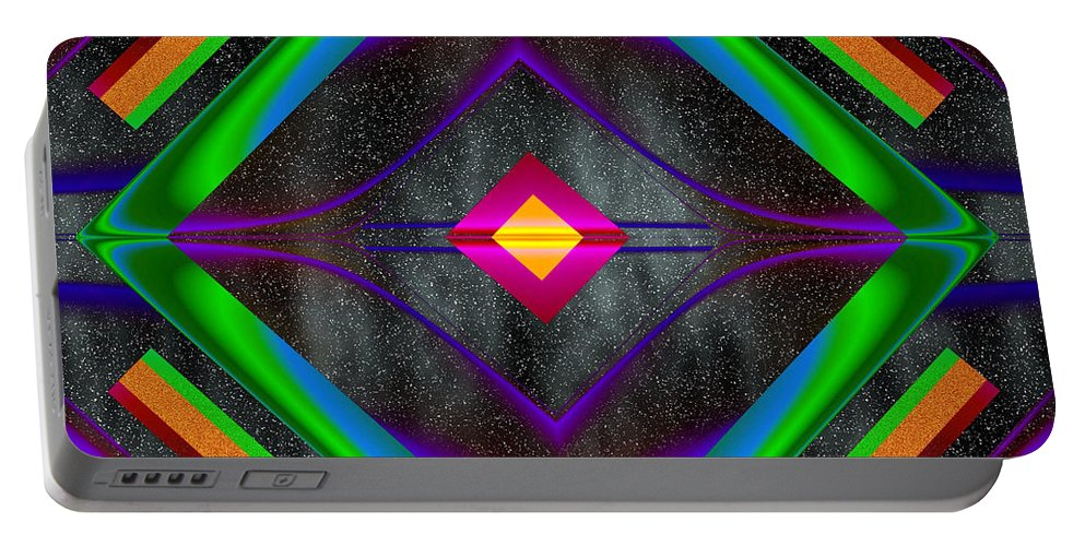 Ultra Fractal Portable Battery Charger featuring the digital art The Colors Of Space by Mario Carini