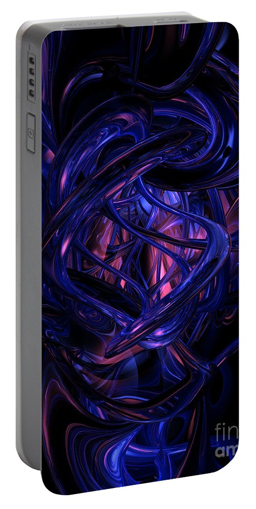 3d Portable Battery Charger featuring the digital art The Coming Abstract by Alexander Butler