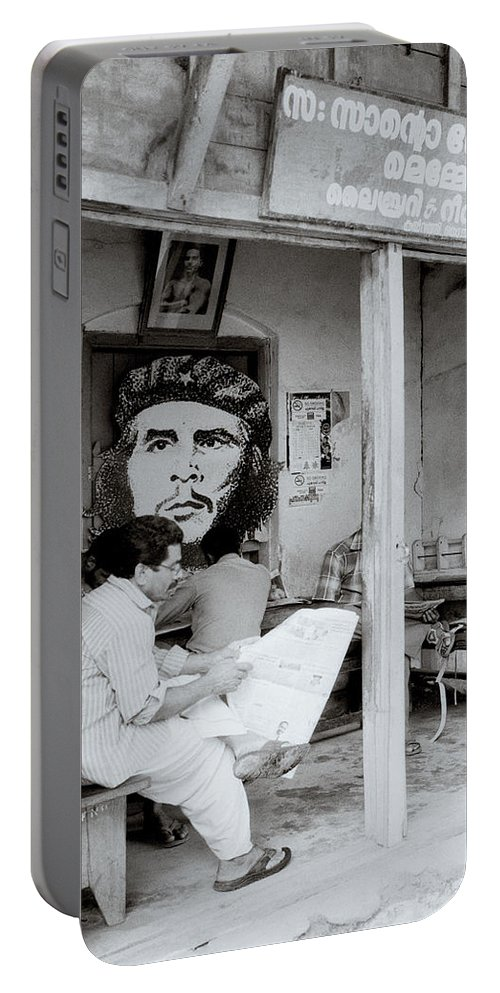 Che Guevara Portable Battery Charger featuring the photograph The Reading Room by Shaun Higson