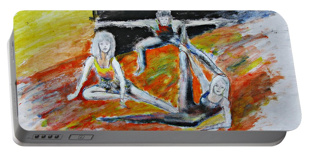 Dance Portable Battery Charger featuring the painting The Dance Audition by Tom Conway