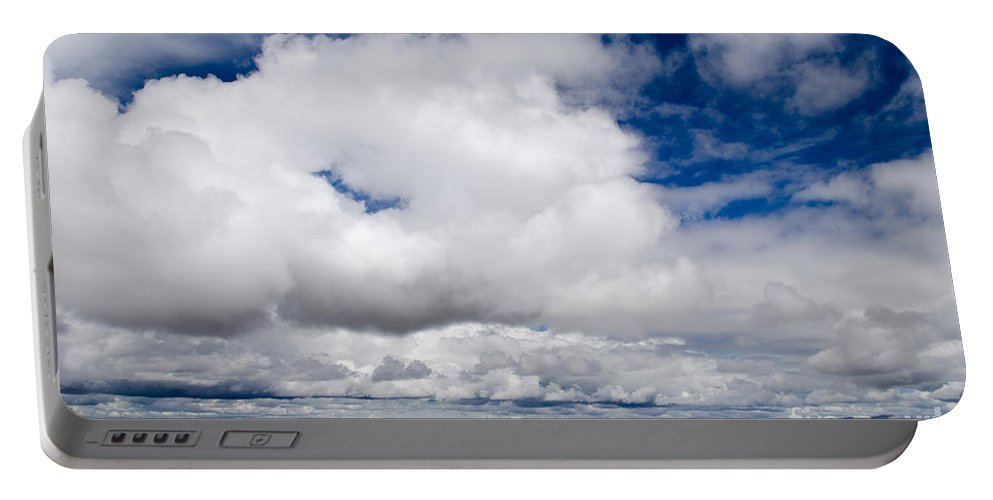 Lake Titicaca Portable Battery Charger featuring the photograph Cloudscape Over Lake Titicaca Peru by Ralf Broskvar