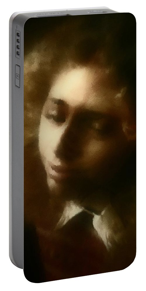 Girl Portable Battery Charger featuring the painting The Daydream by RC DeWinter
