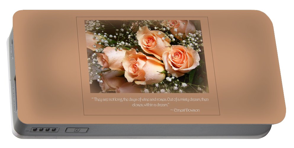 Roses Portable Battery Charger featuring the photograph The Days Of Wine And Roses by Susan McMenamin