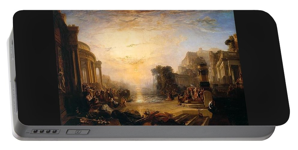 1817 Portable Battery Charger featuring the painting The Decline Of The Carthaginian Empire by JMW Turner