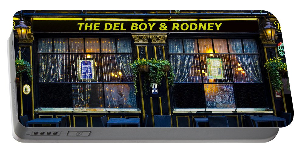 Only Fools And Horse's Portable Battery Charger featuring the photograph The Del Boy And Rodney Pub by David Pyatt