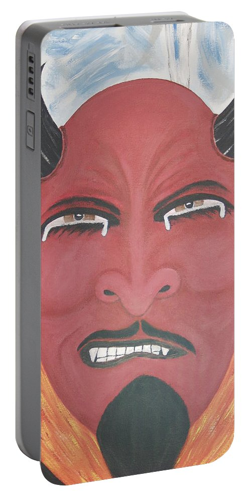 Devil Portable Battery Charger featuring the painting The Devil is the detail by Dean Stephens