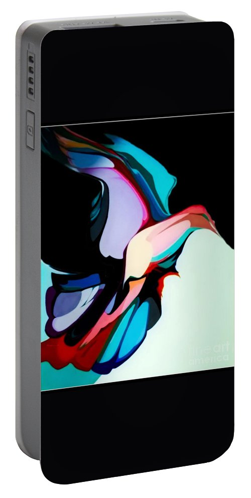 Bird Portable Battery Charger featuring the painting The Early Bird by Marlene Burns