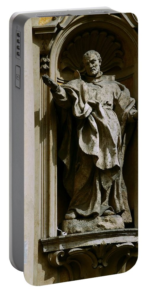 Philosopher Portable Battery Charger featuring the photograph The Egg Came First by Eric Tressler