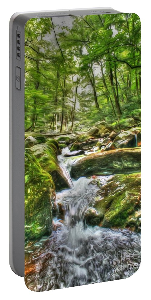 Day Portable Battery Charger featuring the photograph The Emerald Forest 3 by Dan Stone