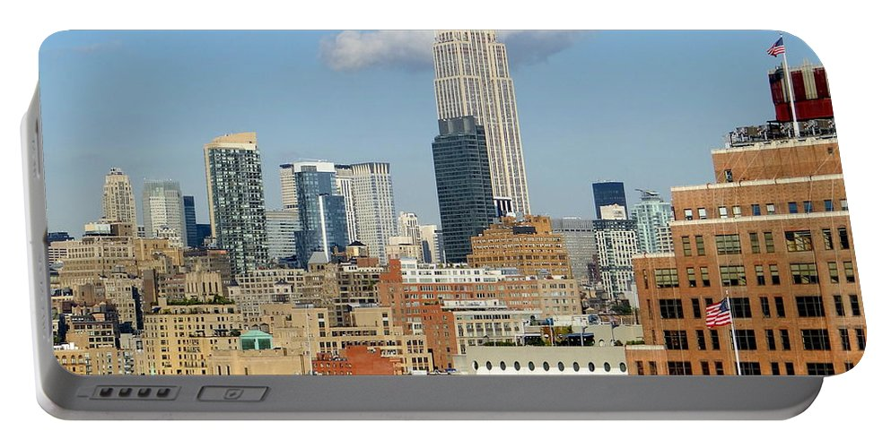 New York City Skyline Portable Battery Charger featuring the photograph The Empire State Building by Ed Weidman