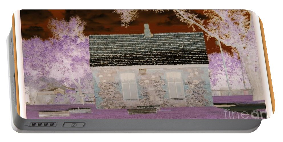 Enchanted Portable Battery Charger featuring the photograph The Enchanted Cottage by Bobbee Rickard