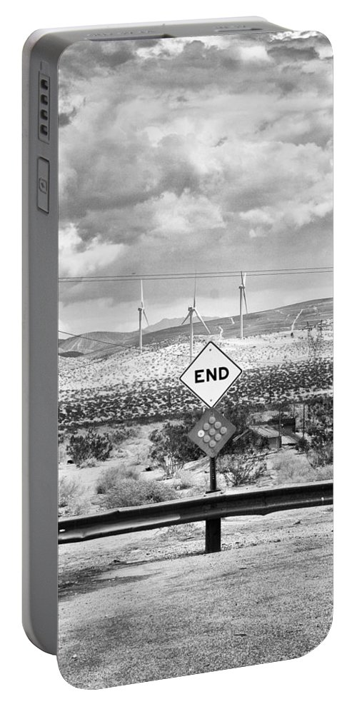 Portable Battery Charger featuring the photograph The End Bw by William Dey