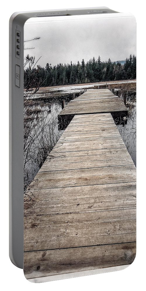 Hamilton Marsh Portable Battery Charger featuring the photograph Pier Hamilton Marsh by Roxy Hurtubise