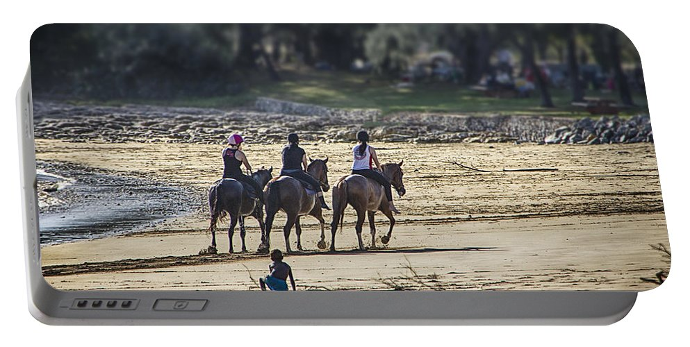 Equestrians Portable Battery Charger featuring the photograph The Equestrians  by Douglas Barnard