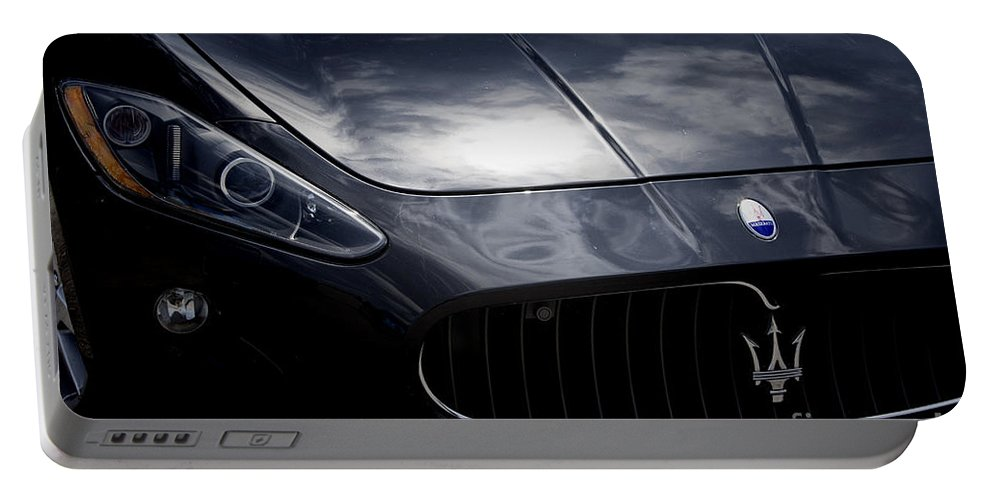 Maserati Portable Battery Charger featuring the photograph The Essence Of Maserati by Douglas Barnard