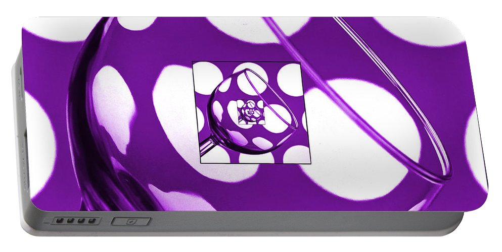 Wine Glass Portable Battery Charger featuring the photograph The Eternal Glass Purple by Steve Purnell