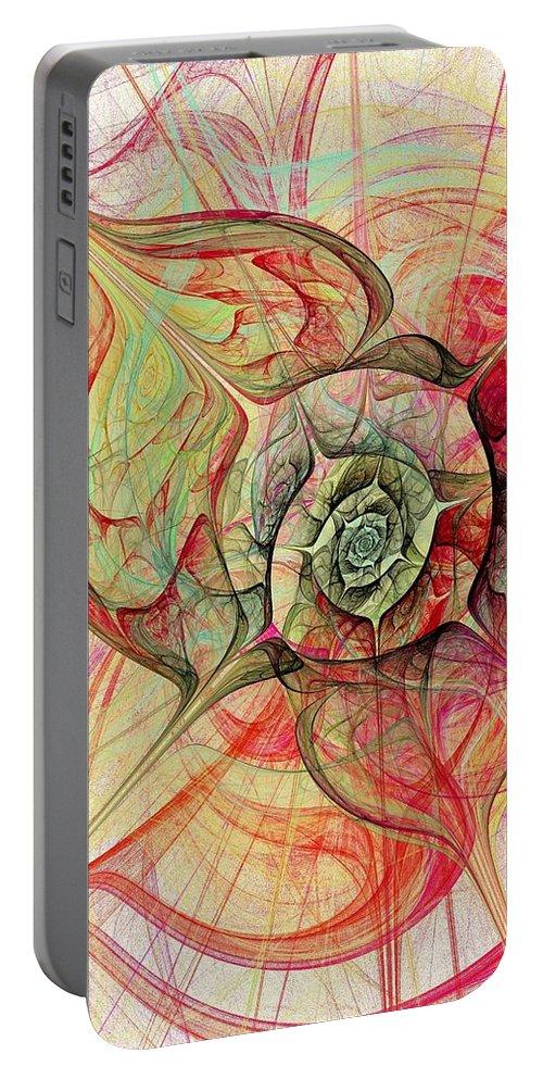 Malakhova Portable Battery Charger featuring the digital art The Eye Within by Anastasiya Malakhova