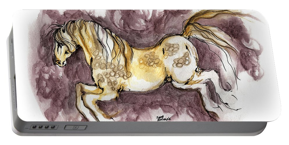 Horse Portable Battery Charger featuring the painting The Fairytale Horse 1 by Angel Ciesniarska