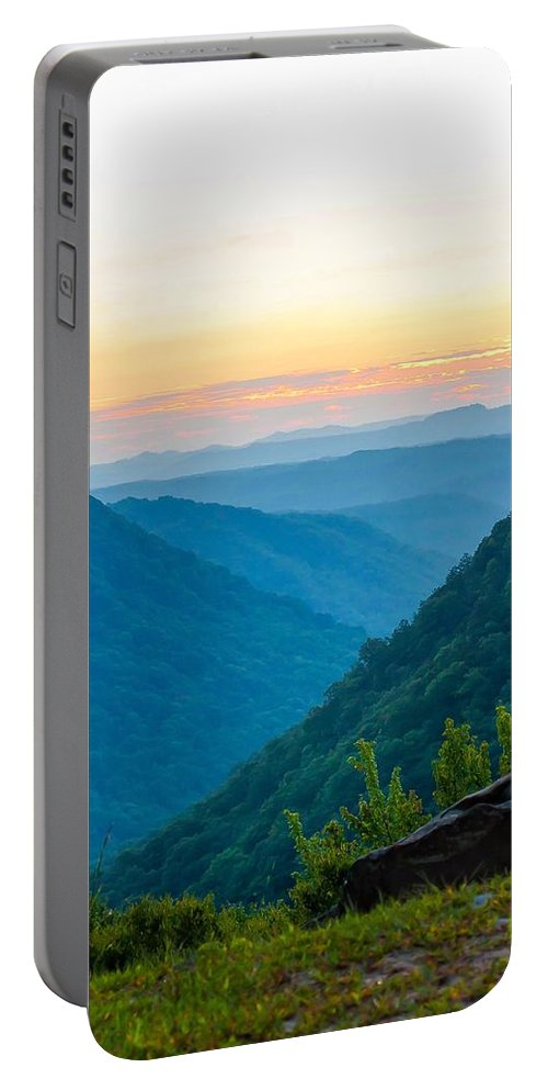 Babcock State Park Portable Battery Charger featuring the photograph The Far Hills by Steve Harrington