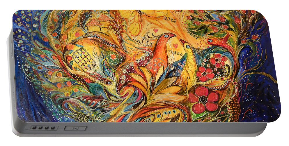 Original Portable Battery Charger featuring the painting The Fishermen Village by Elena Kotliarker
