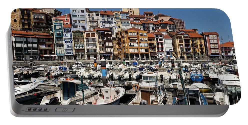 Boats Portable Battery Charger featuring the photograph The Fishing Village by Lucinda Walter