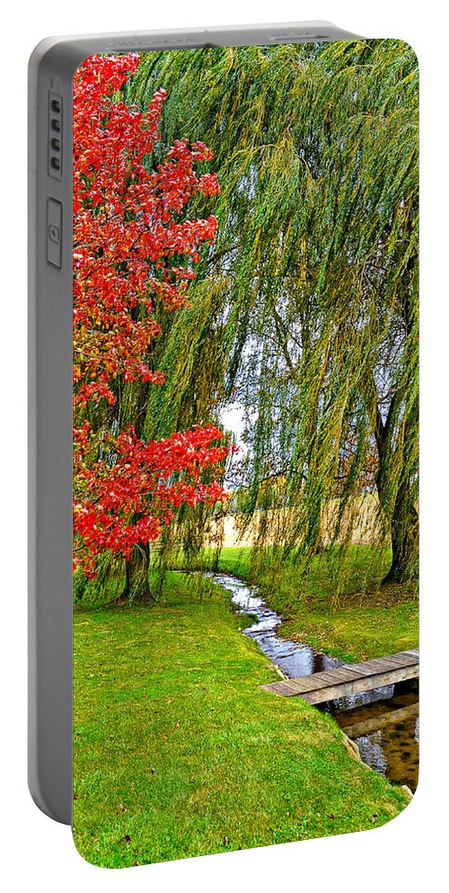 Pennsylvania Portable Battery Charger featuring the photograph The Flow Of Autumn by Steve Harrington