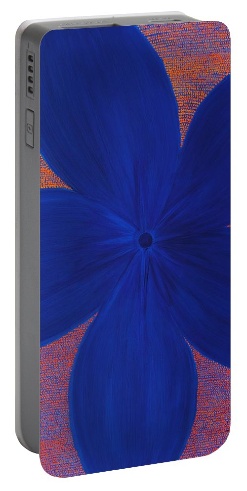 Flower Portable Battery Charger featuring the painting The Flower by Kyung Hee Hogg