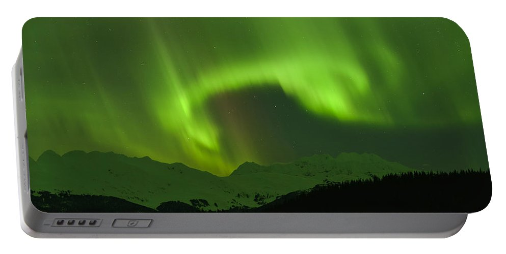 Aurora Portable Battery Charger featuring the photograph The Force by Ted Raynor