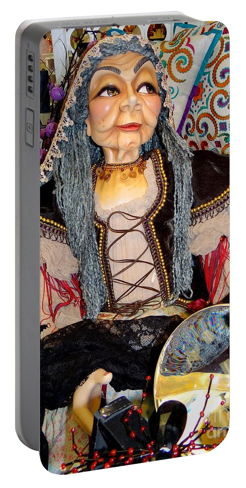 Mannequins Portable Battery Charger featuring the photograph The Fortune Teller by Ed Weidman