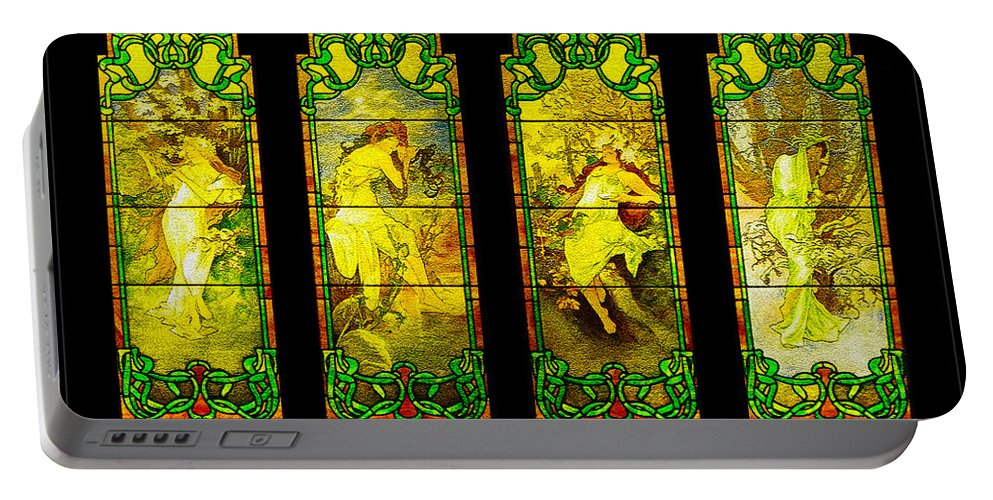 Women Portable Battery Charger featuring the digital art The Four Maidens... by Tim Fillingim