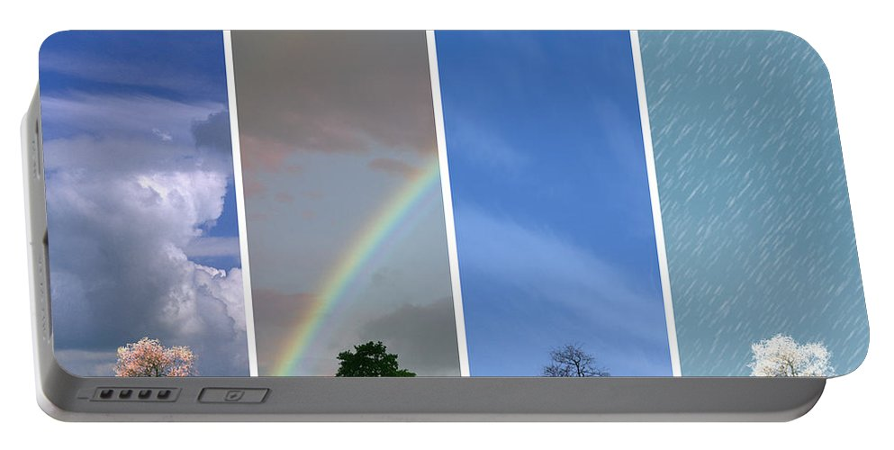 Nag003144 Portable Battery Charger featuring the photograph The Four Seasons by Edmund Nagele