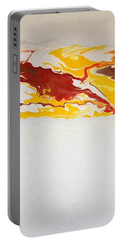 Abstract Portable Battery Charger featuring the painting The Free Spirit 5 by Sonali Kukreja