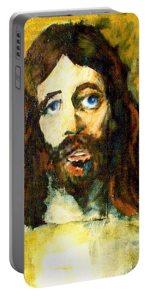 Jesus Christ Portable Battery Charger featuring the painting The Galilean by Seth Weaver