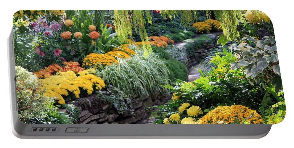 Allen Portable Battery Charger featuring the photograph The Garden by Munir Alawi