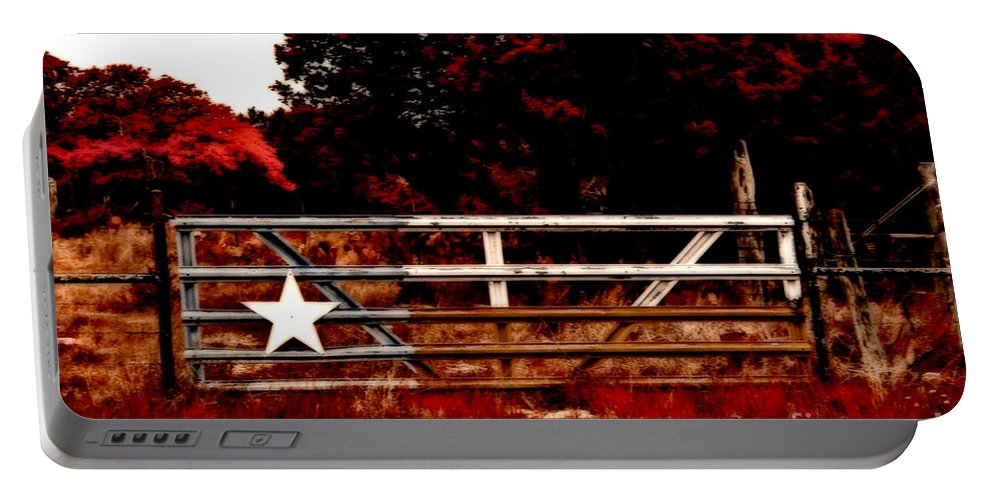 Tree Portable Battery Charger featuring the photograph The Gate To Texas by Douglas Barnard