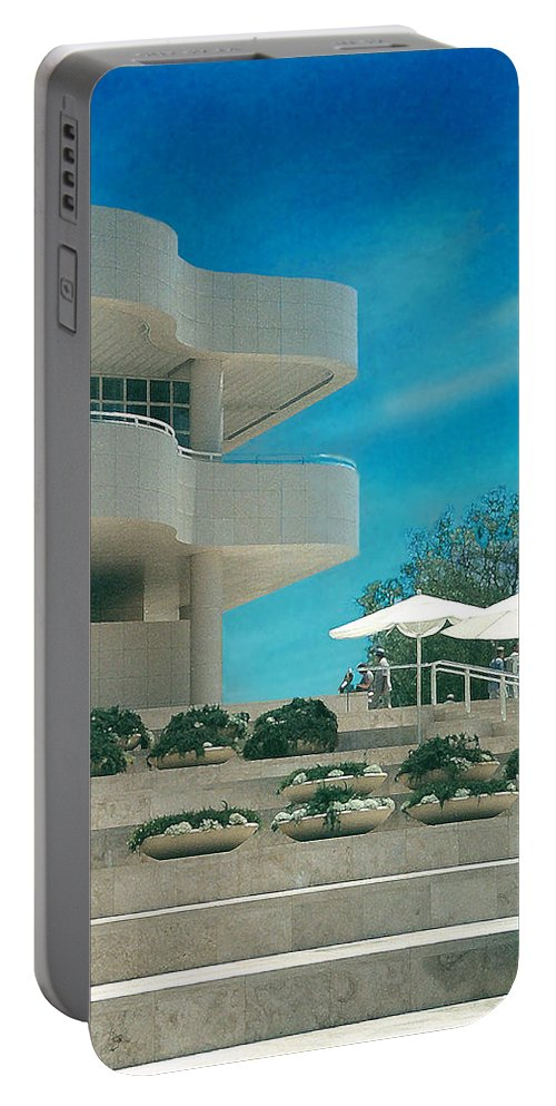 Landscape Portable Battery Charger featuring the photograph The Getty Panel 1 by Steve Karol