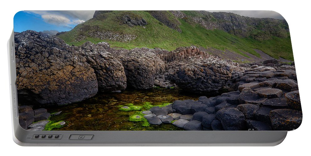 Europe Portable Battery Charger featuring the photograph The Giant's Causeway - Peak And Pool by Inge Johnsson