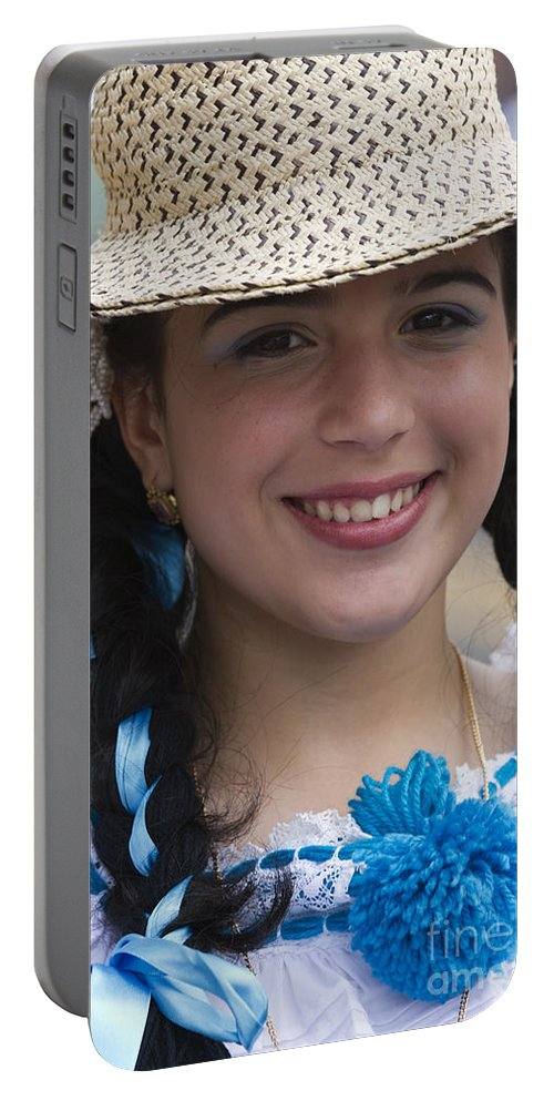 People Portable Battery Charger featuring the photograph The Girl With The Panama Hat by Heiko Koehrer-Wagner