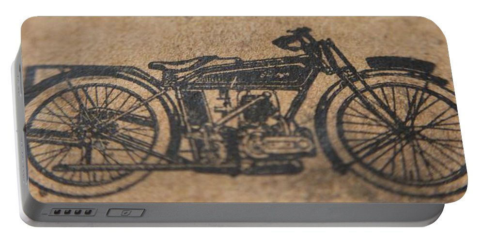 Raleigh Motorcycle Portable Battery Charger featuring the photograph The Gold Medal Motorcycle 1925 by Robert Phelan