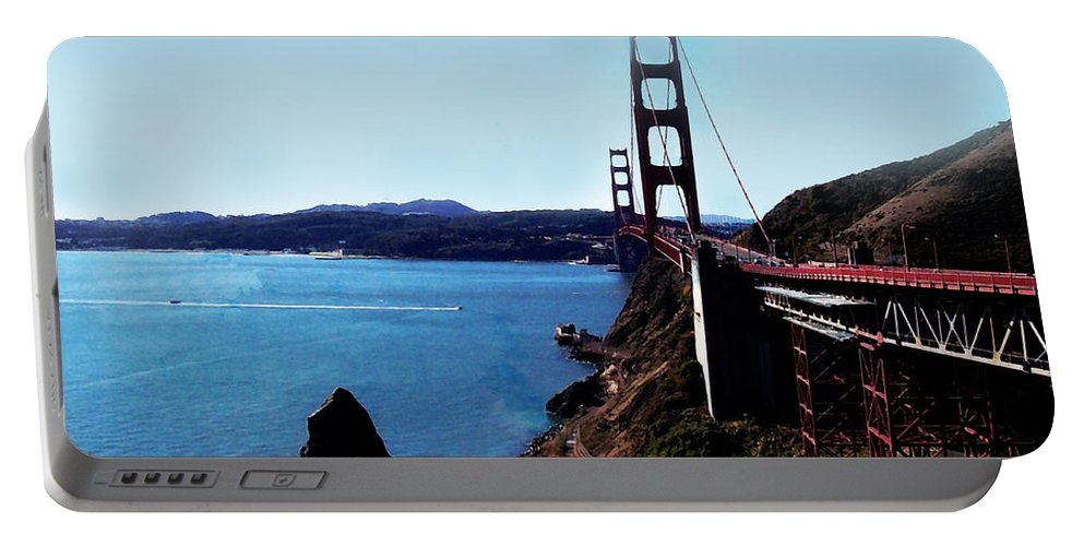 Architecture Portable Battery Charger featuring the photograph The Golden Gate Bridge by Glenn Aker