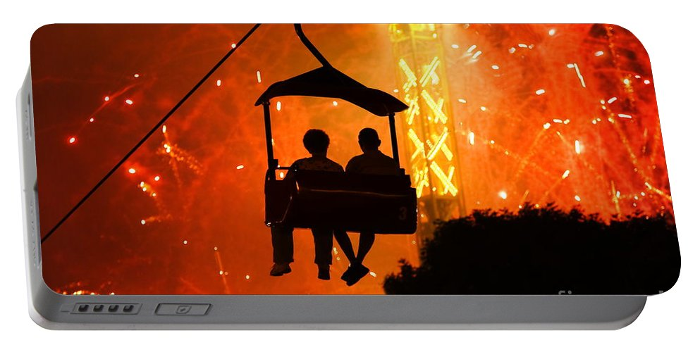 Fairs Portable Battery Charger featuring the photograph The Grand Finale by Charley Starnes