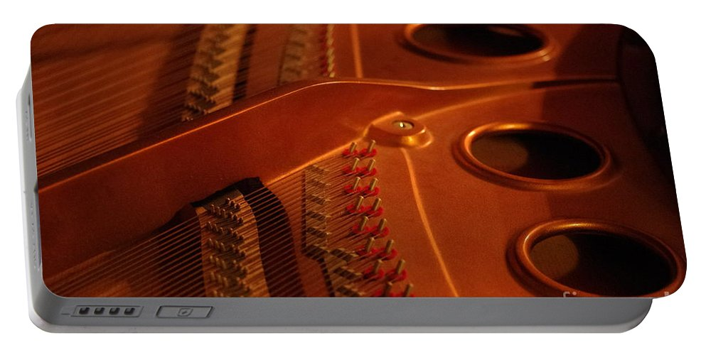 Piano Portable Battery Charger featuring the photograph The Grand by Kitrina Arbuckle