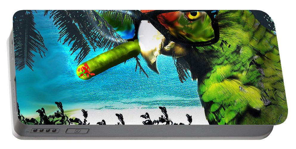 The Great Bird Of Casablanca Portable Battery Charger featuring the digital art The Great Bird Of Casablanca by Seth Weaver