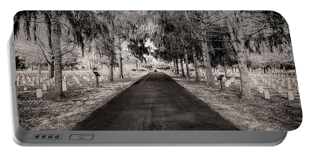 Stones River National Cemetery Portable Battery Charger featuring the photograph The Green Mile by Brett Engle